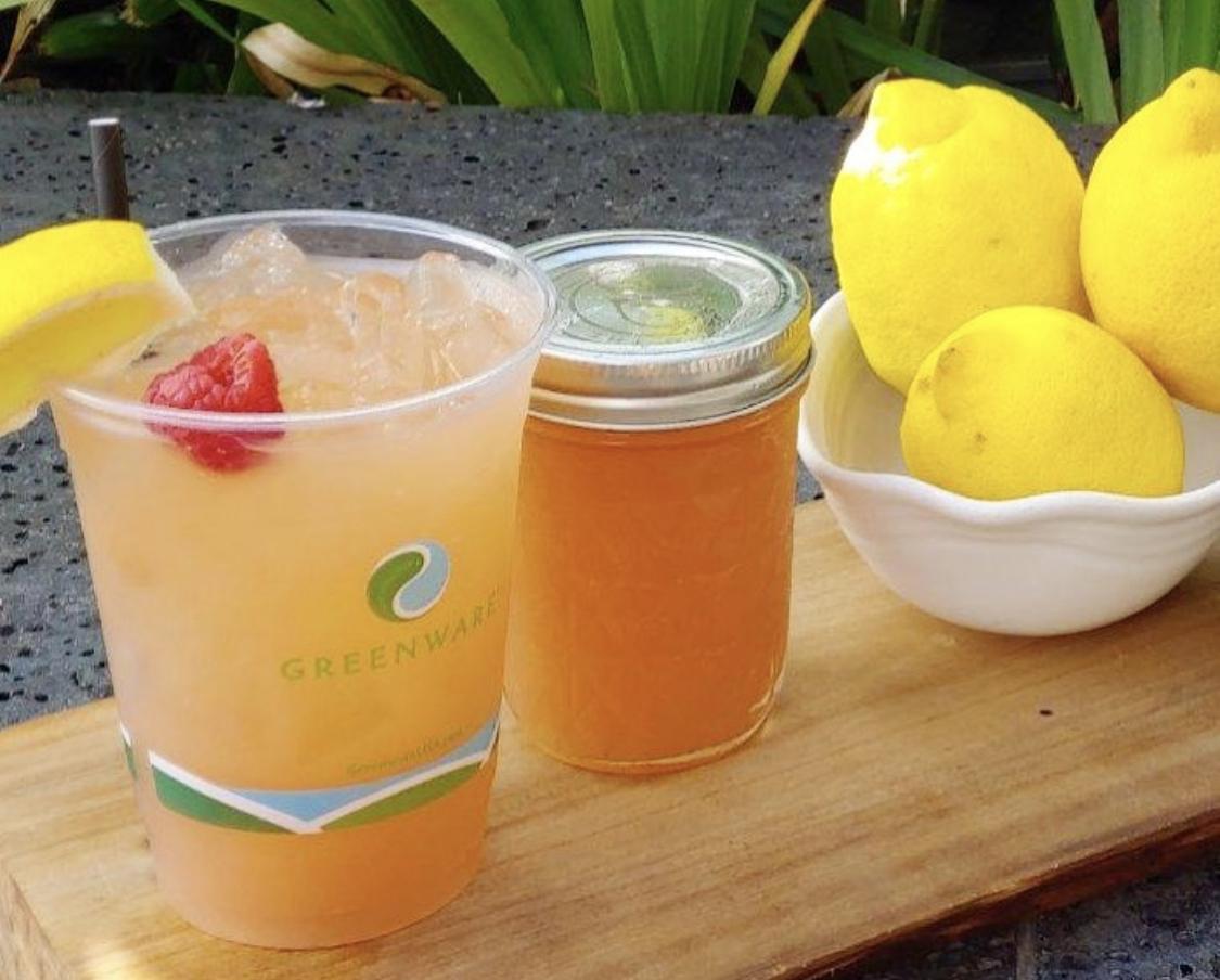 Boozy Lilikoi Lemonade